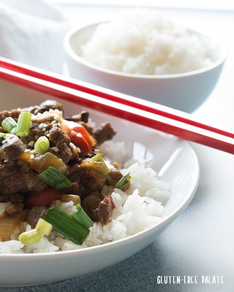 Easy from scratch Mongolian Beef that's a healthy spin off the traditional dish and will hit your taste buds in all the right places. You are going to love this gluten-free Mongolian Beef.