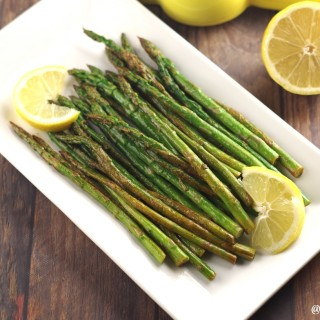 Wow your guests with this simple but delicious Lemon Wok Asparagus by Gluten-Free Palate.