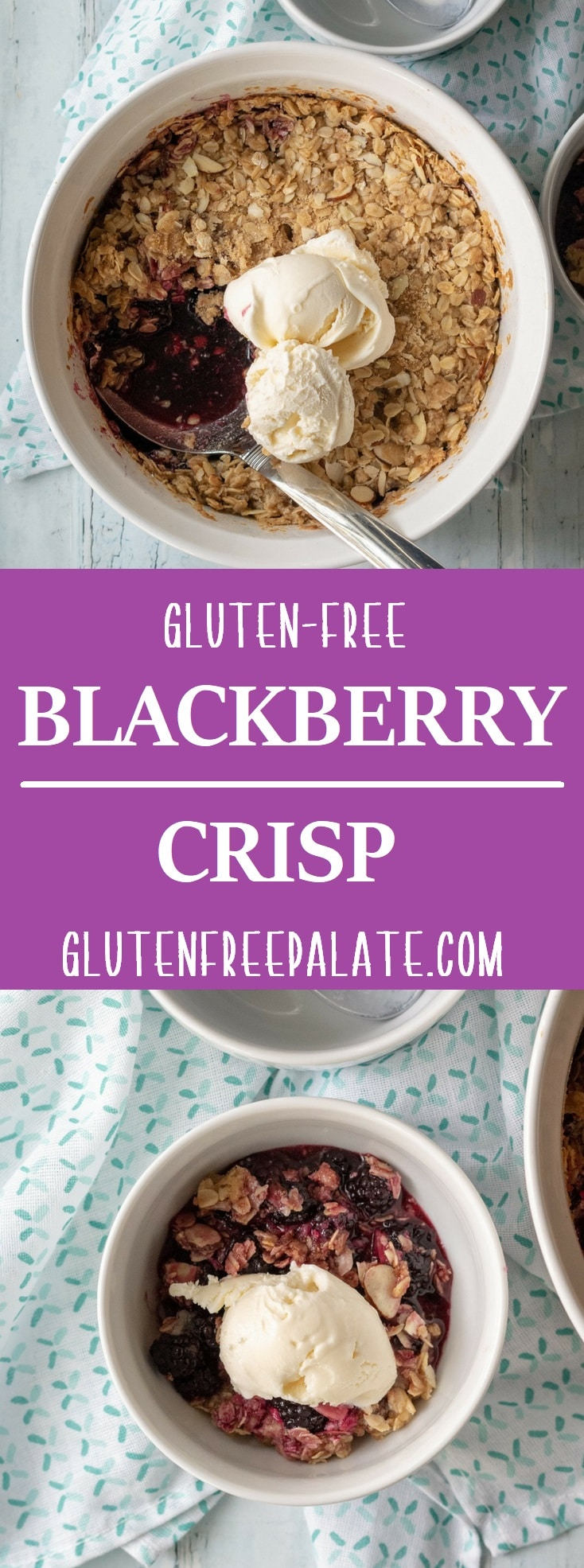 Looking for a way to use your blackberries? This gluten-free blackberry crisp has the perfect juicy blackberry filling and sweet, crunchy topping.