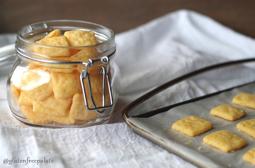 Satisfy your salty cracker cravings with these super simple Gluten-Free Cheese Crackers by Gluten-Free Palate.