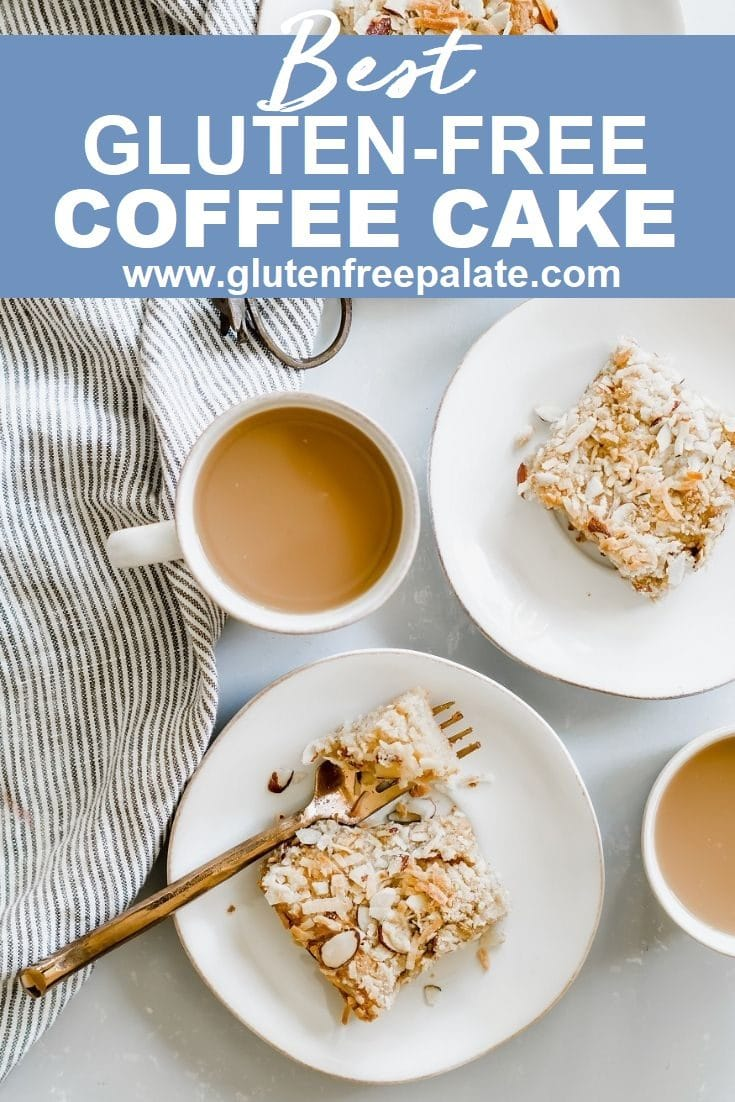A tender, Gluten-Free Coffee Cake loaded with flavor and spices is the perfect breakfast to serve your family or out of town guests. This gluten-free coffee cake recipe is simple to make and quick to bake.