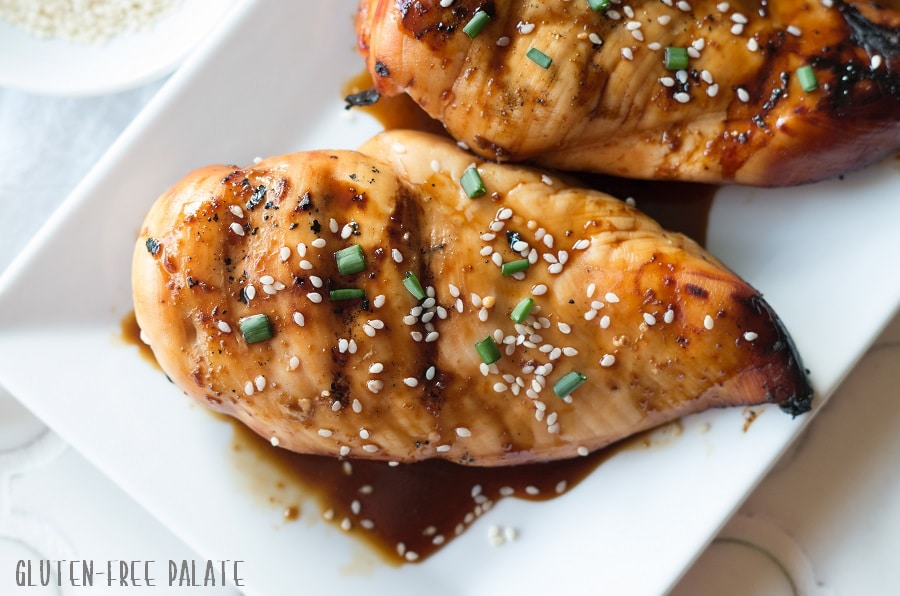 This sweet, juicy, flavorful Gluten-Free Hawaiian Chicken is the perfect chicken to whip up on a weeknight and throw on the grill.