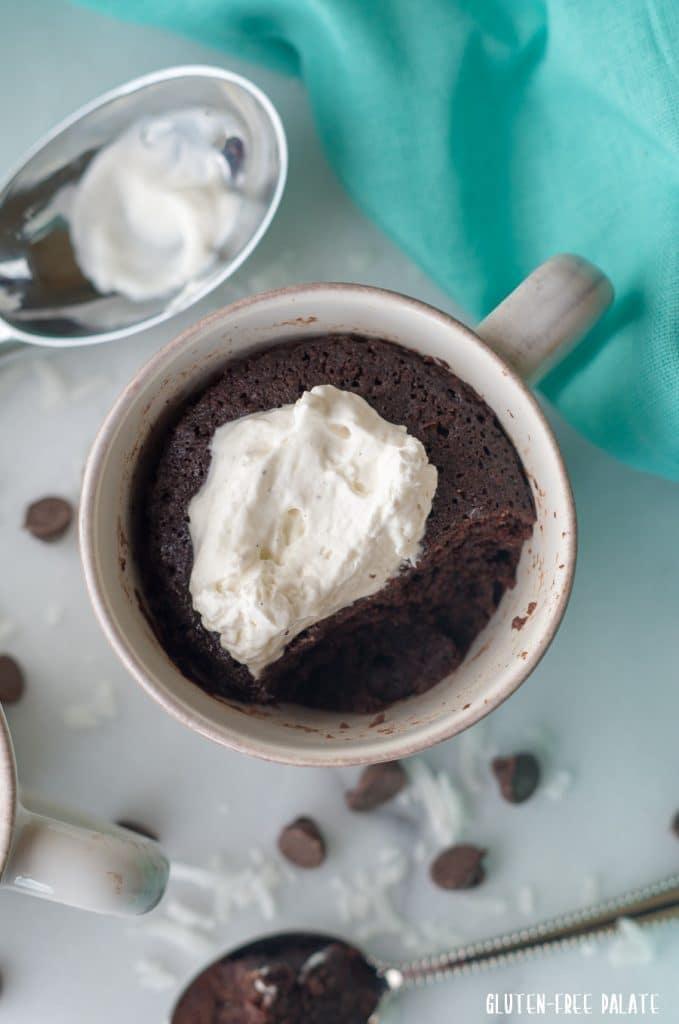 German Chocolate Mug Cake