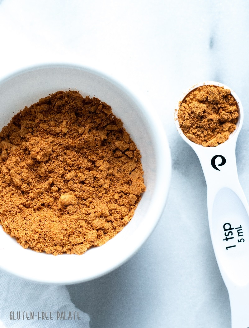 This easy homemade gluten-free taco seasoning is delicious with ground beef, ground turkey or on fish tacos. It's whole30, paleo, and made with the spices found in most kitchens.