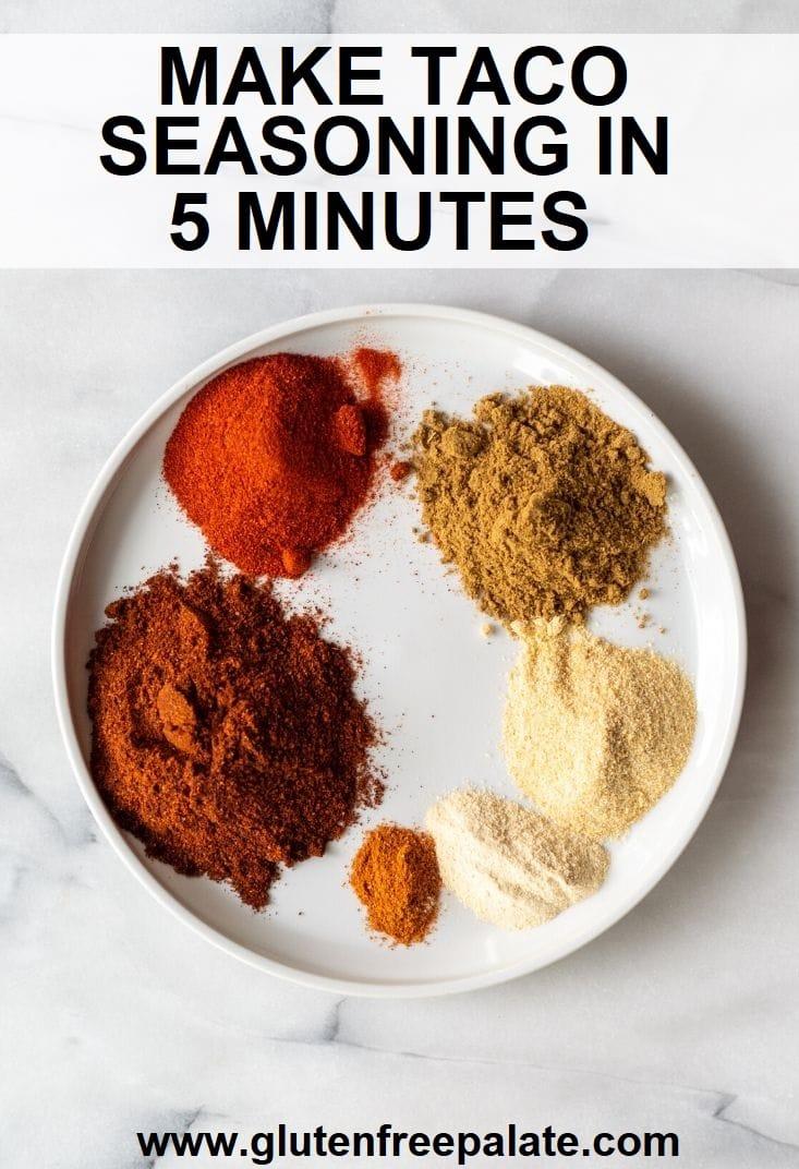 seasonings in gluten free taco seasoning