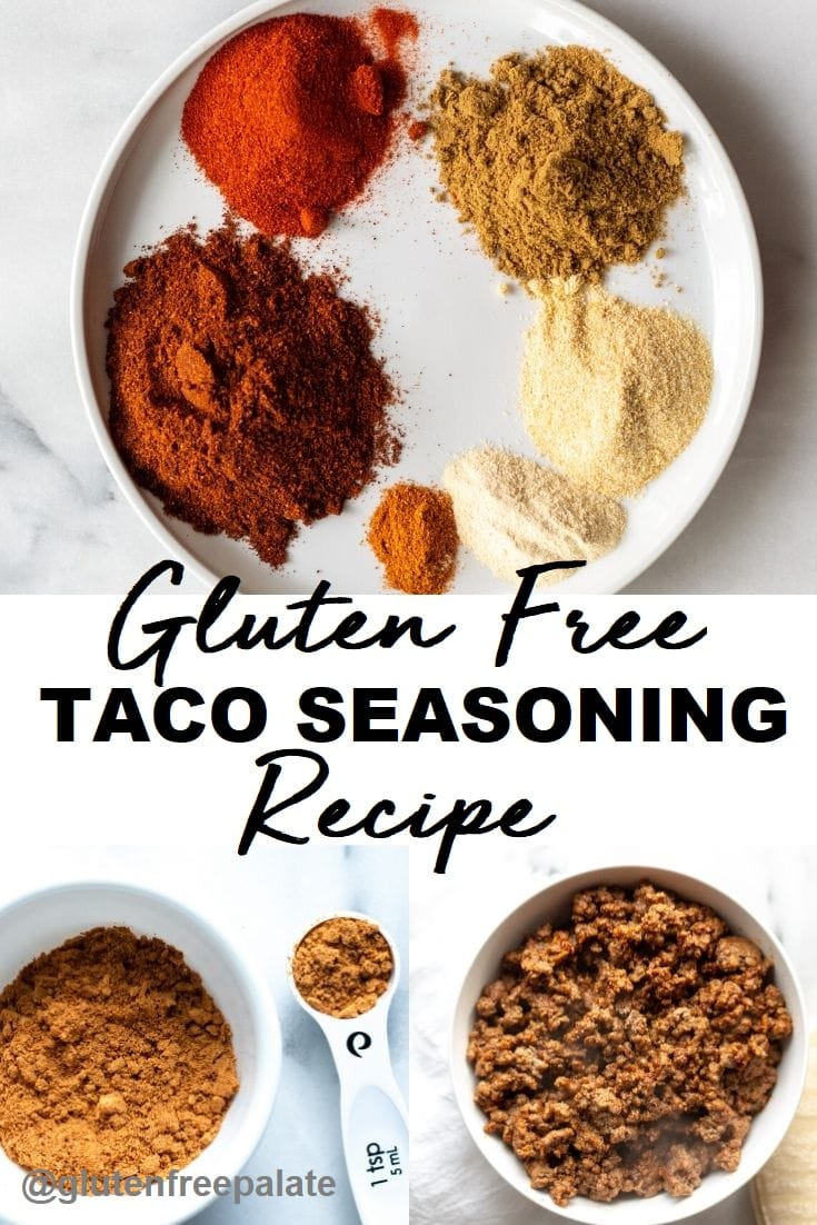 gluten free taco seasoning pinterest pin
