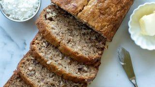 Gluten-Free Coconut Pecan Banana Bread