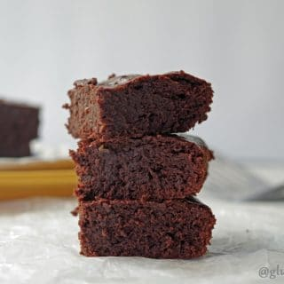 These rich, fudge-like Gluten-Free Dark Chocolate Banana Brownies have a smooth chocolate flavor followed by a light banana finish.