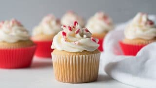White Peppermint Cupcakes