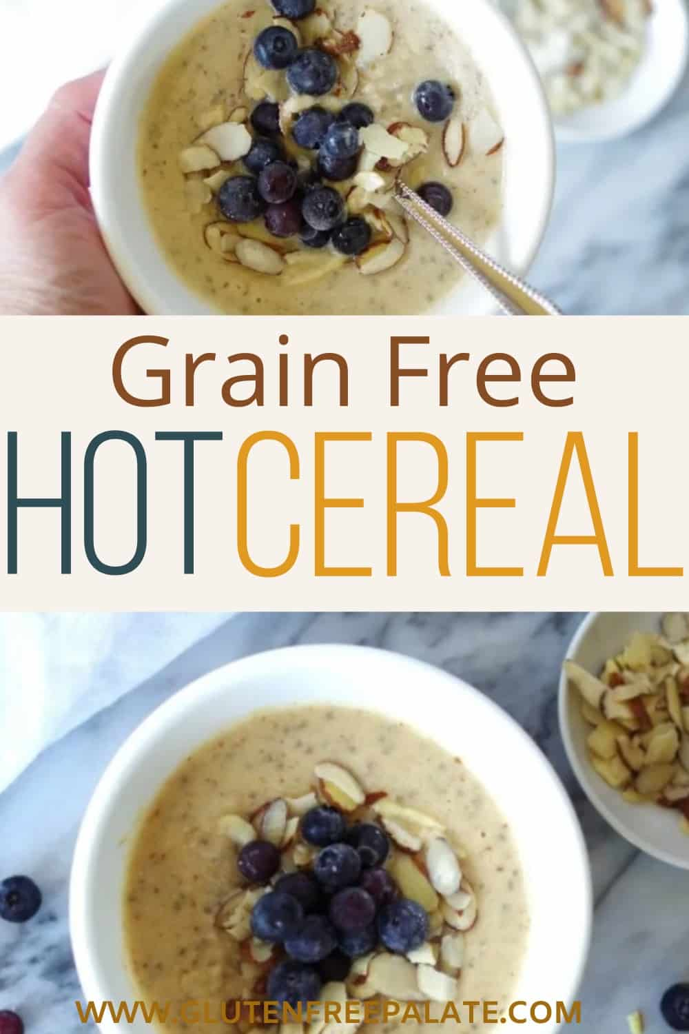 pinterest pin for grain free hot cereal