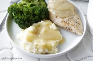 Good Gravy!!! This recipe for Gluten-Free Five Minute Gravy is a GAME-CHANGER. Everybody needs a good gluten-free gravy recipe, right? The easier it is the better and this one is so easy, it's ready in five minutes.