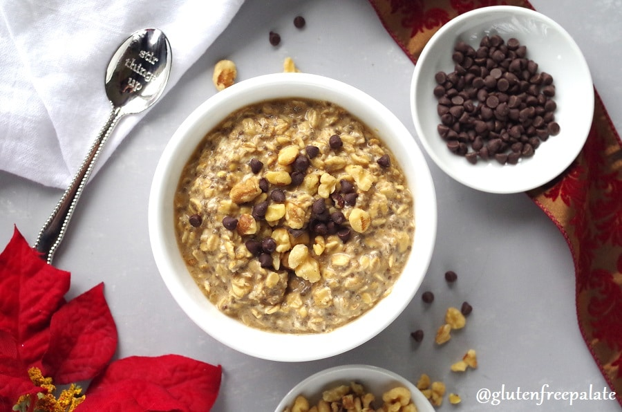 Warm your insides with Gluten-Free Gingerbread Overnight Oats. These gingerbread oats have the perfect amount of spice with subtle hints of ginger and molasses throughout.