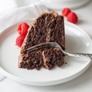 Easy Gluten-Free Chocolate Cake that's tender, chocolaty, and delicious.