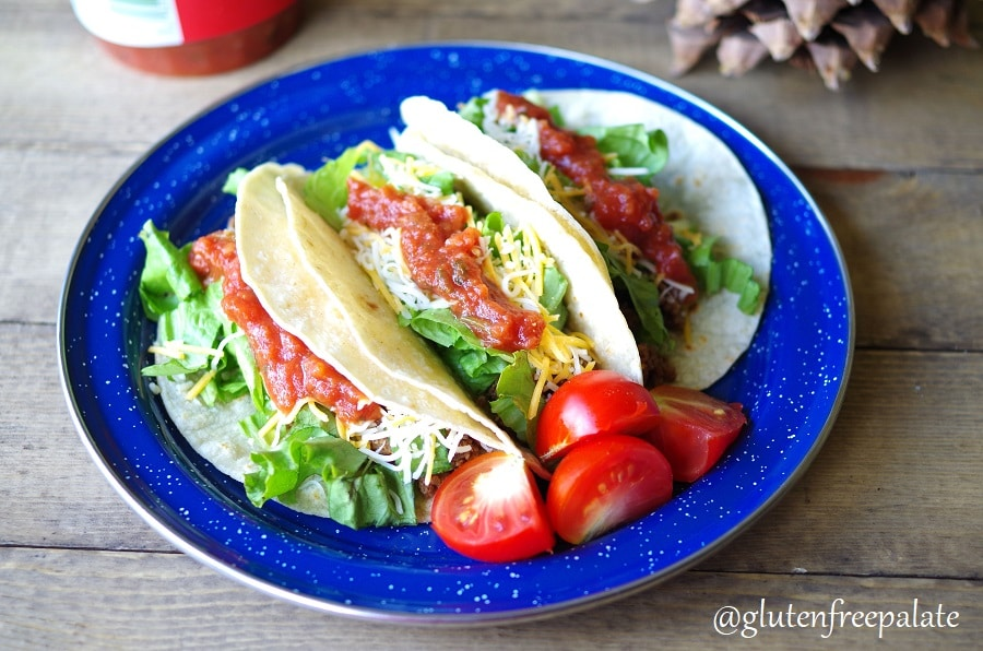 Gluten-Free Camping Food - Tacos are simple to cook up and make a great camping food.
