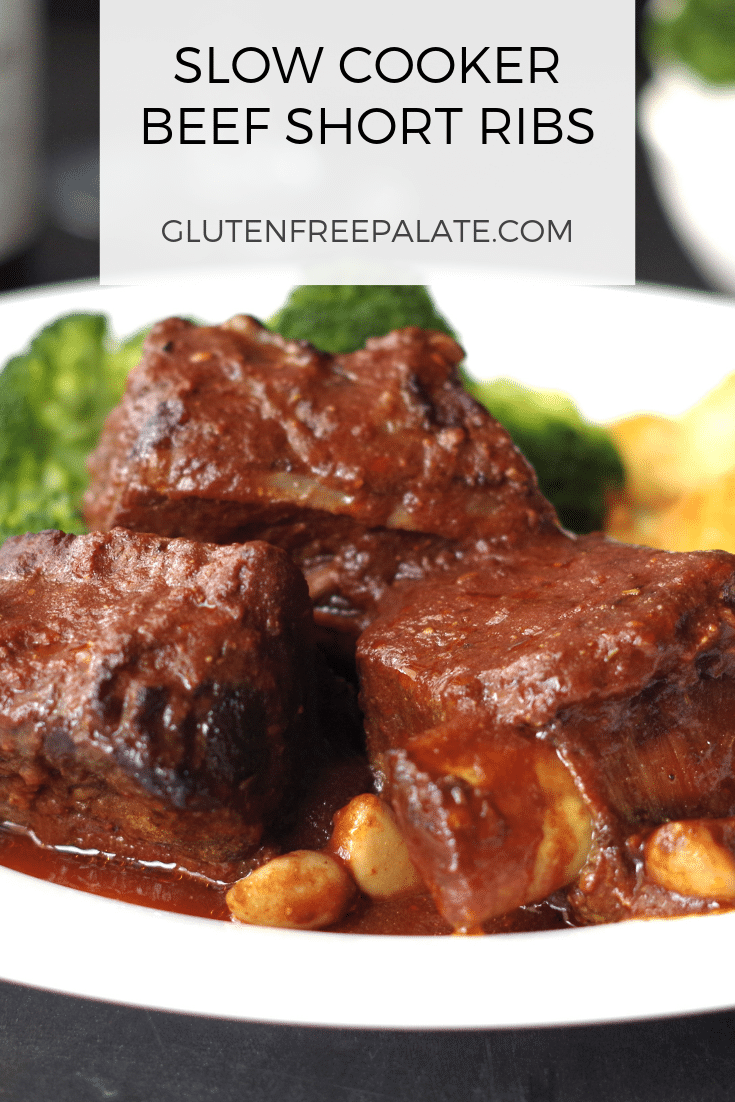 Savory Slow Cooker Beef Short Ribs with an incredible sauce.
