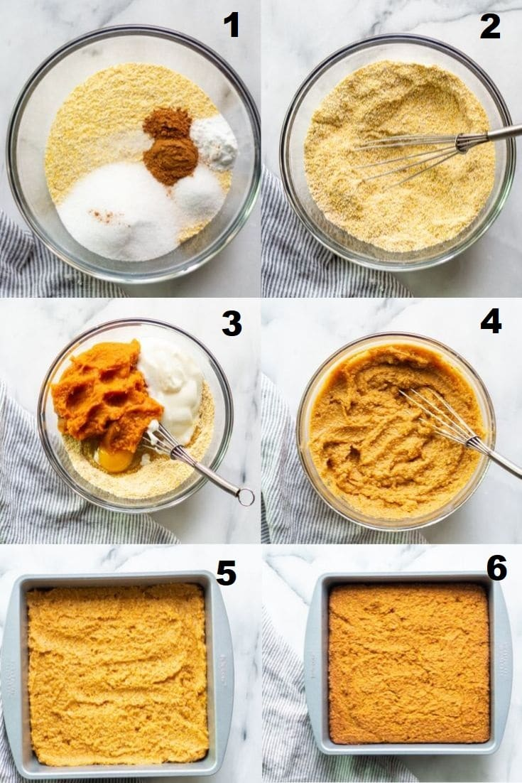 steps how to make pumpkin cornbread