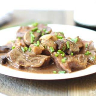 Slow Cooker Beef Sirloin Tips (9 Ingredients)