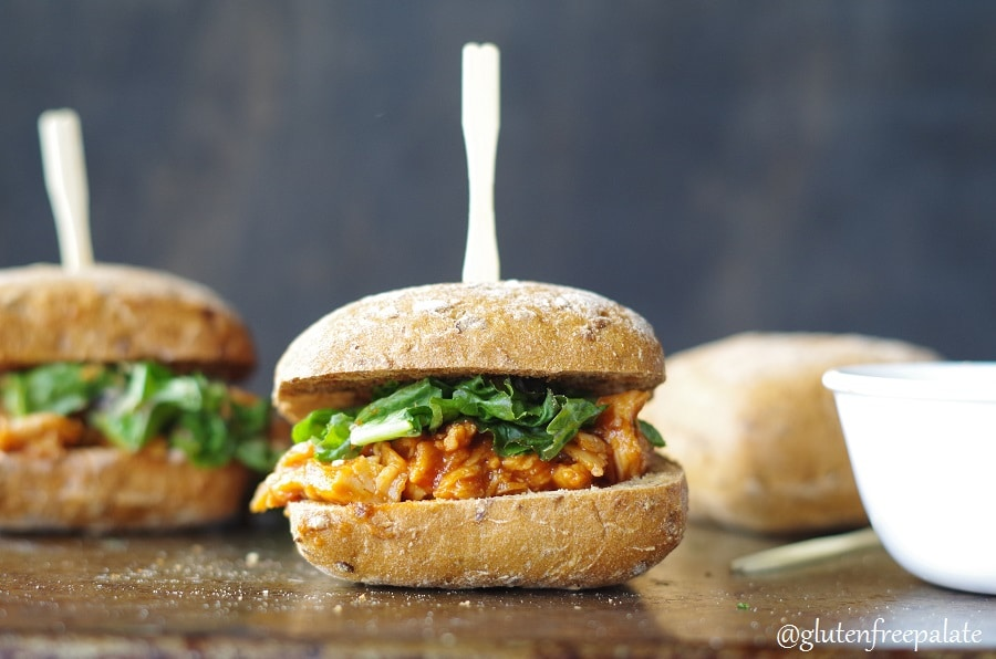 Whether you are planning a party to watch a big game, having family over, or simply looking for something quick and savory, these Gluten-Free Carolina Chicken Sliders will not disappoint. Tangy, mouth-watering, and quick to make, they will be a new favorite in your house.