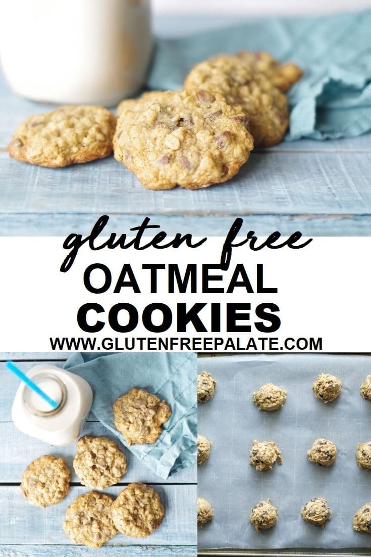 gluten free oatmeal cookies pinterest pin collage