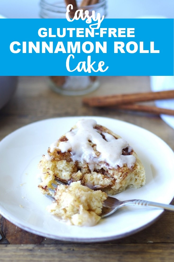 Gluten-Free Cinnamon Roll Cake that is easy, uses minimal ingredients, and takes the labor intensive steps of rolling and kneading away.