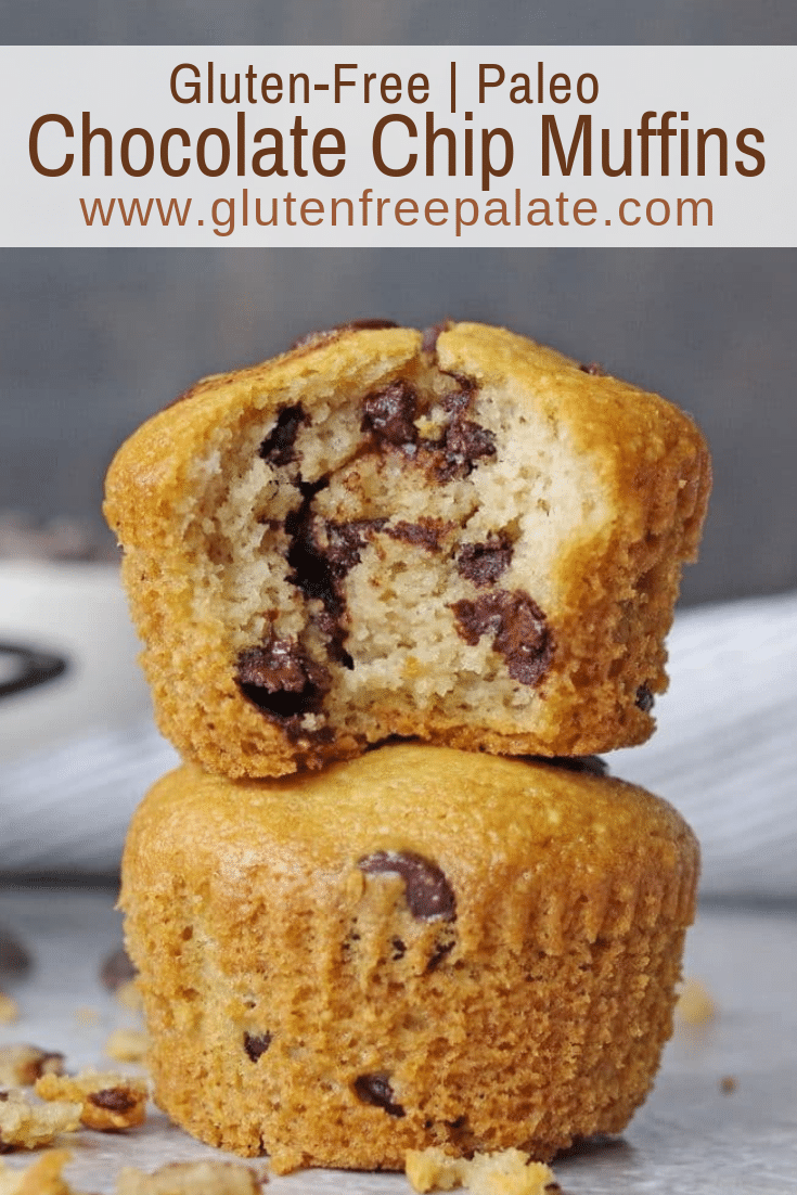These scrumptious Paleo Chocolate Chip Muffins are simple to make, and ready to devour in less than thirty minutes. A fresh-baked, tender, chocolatey paleo muffin that's healthy and satisfying.