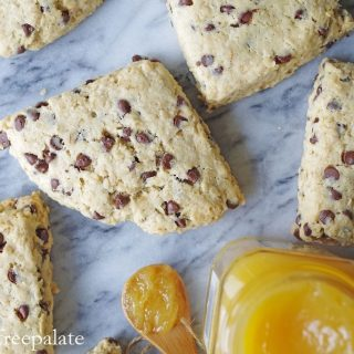 Gluten-Free Oatmeal Chocolate Chip Scones