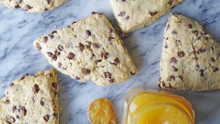 Gluten-Free Oatmeal Chocolate Chip Scones