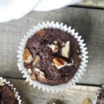 These Chocolate Banana Nut Muffins are bursting with chocolate, gluten-free, and Paleo - making them the muffin of choice