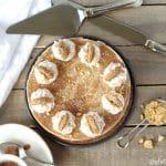 Cinnamon roll cake, topped with creamy Snickerdoodle non-dairy frozen dessert, whipped cream, snickerdoodle cookies and a cinnamon glaze make this Gluten-Free Vegan Cinnamon Roll Ice Cream Cake and unique and scrumptious frozen treat.