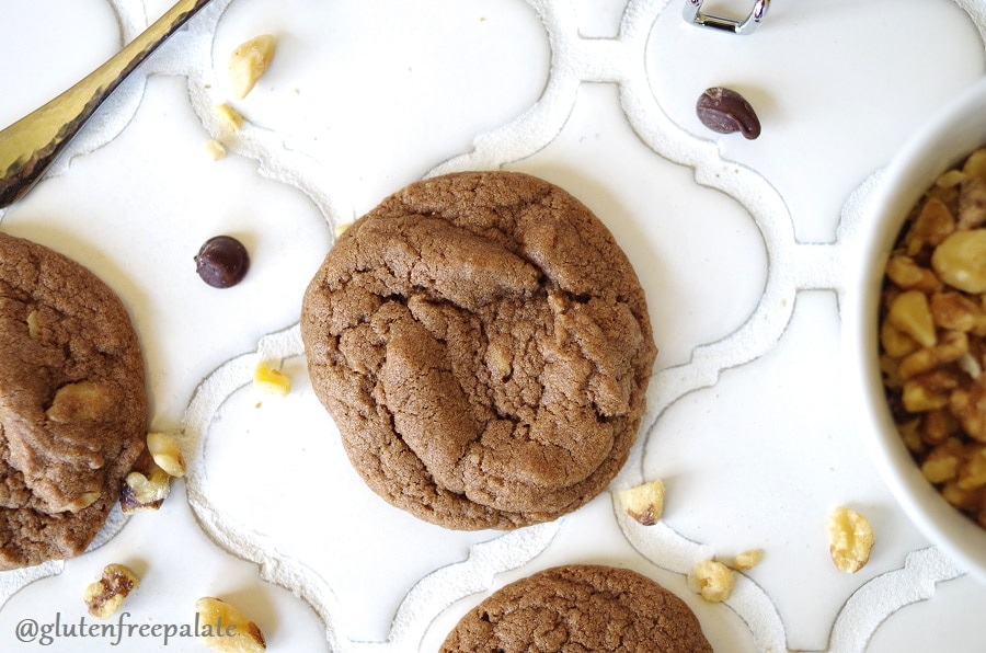 Soft, chewy, and fudgy, these Gluten-Free Chocolate Drop Cookies are quick to whip up, and make the perfect treat for any occasion.
