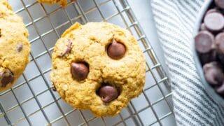 Gluten-Free Vegan Pumpkin Chocolate Chip Cookies