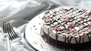 Gluten-Free Peppermint Brownie Ice Cream Cake