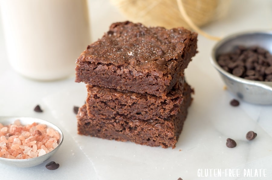 Gluten-Free, Vegan Brownies that are free from the top allergens, rich, and fudgey.
