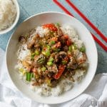 An incredibly flavorful dish loaded with beef, veggies, and a spicy sauce, this Instant Pot Mongolian Beef can be on your dinner table in less than 30 minutes.