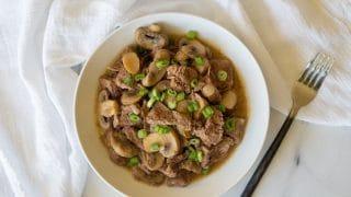 Paleo Instant Pot (Pressure Cooker) Beef Sirloin Tips