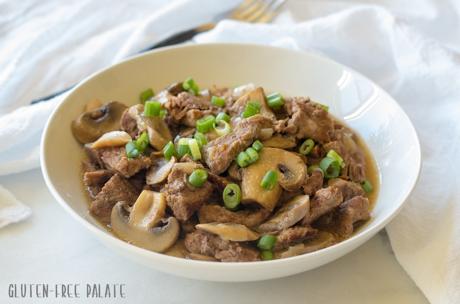 Paleo Instant Pot (Pressure Cooker) Beef Sirloin Tips that are savory, tender, and perfectly seasoned.