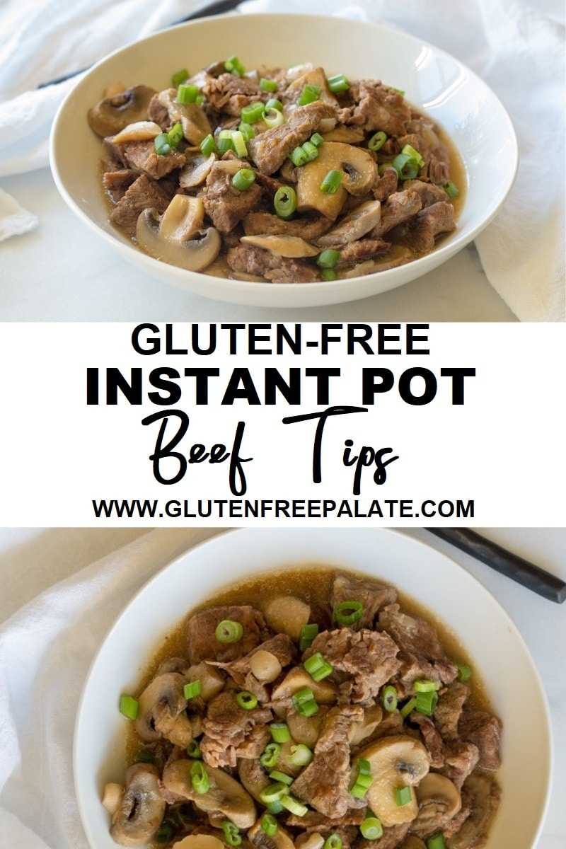 Paleo Instant Pot Beef Sirloin Tips that are savory, tender, and perfectly seasoned.