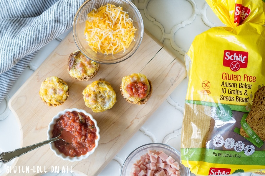 Super simple Gluten-Free Quiche Bites using six ingredients. These pop-able, bite-sized breakfast quiches are ready in less than 20 minutes and make the perfect addition to any breakfast or brunch menu.