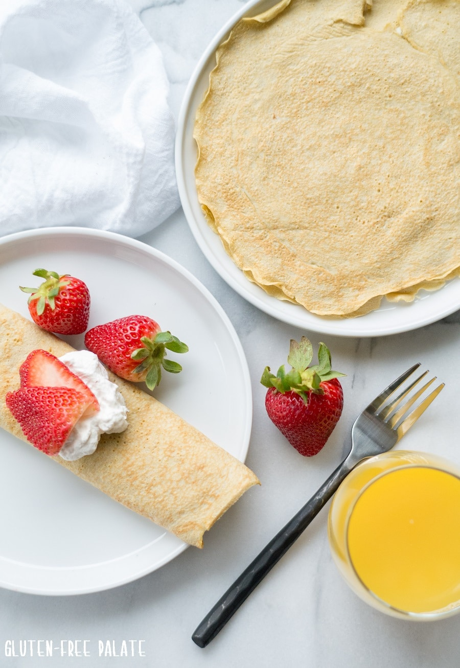 Grain-Free Protein Crepes that are low-carb, light, and perfect for making a high protien breakfast or snack. These Grain-Free Protein Crepes only need three ingredients and are incredibly easy to make.