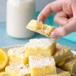 Easy Gluten-Free Lemon Bars that are sweet, tangy, and refreshing. You are going to love how quick this recipe pulls together.