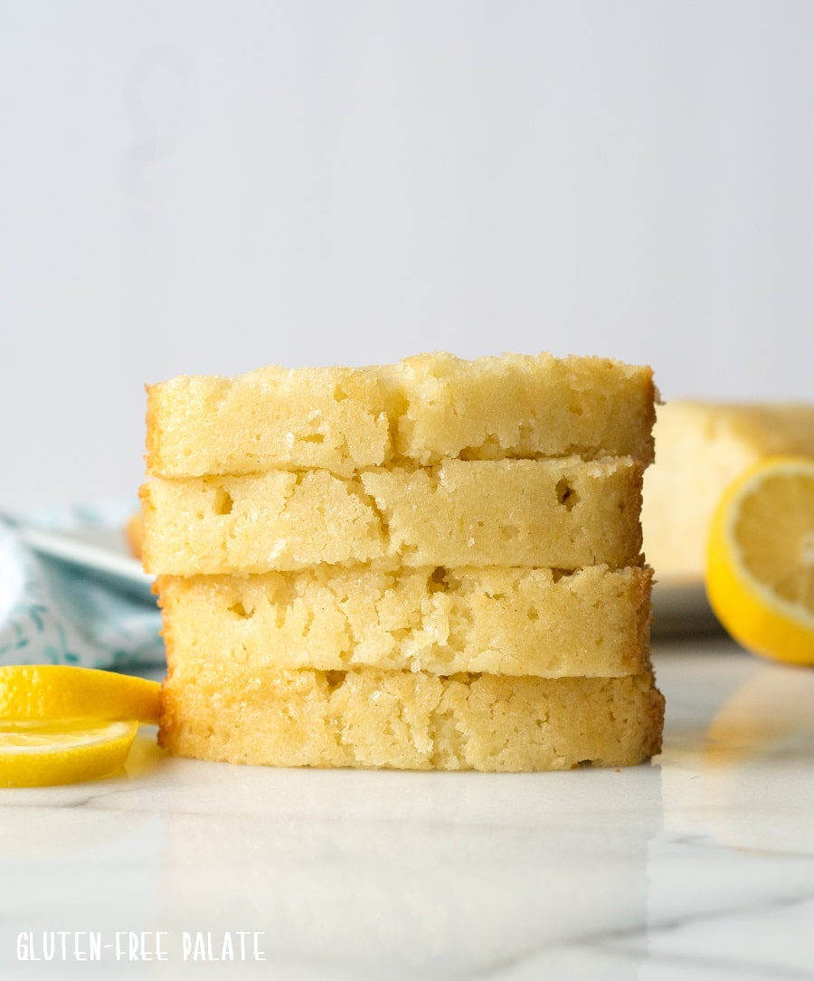 Easy Gluten-Free Lemon Bread that's tender, bursting with lemon, and the perfect quick bread for lemon-lovers.