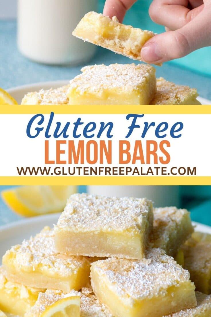 Gluten-Free Lemon Bars pinterest pin collage