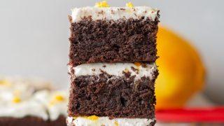 Gluten-Free Orange Brownies