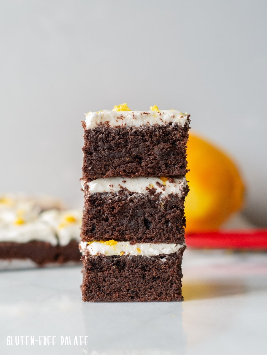 Gluten-Free Orange Brownies.