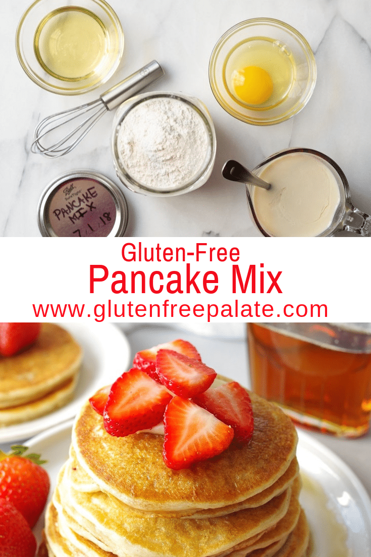 Gluten-Free Pancake Mix that is simple to make, a tried and true gluten-free pancake recipe, and can be made right away, or stored for future use.