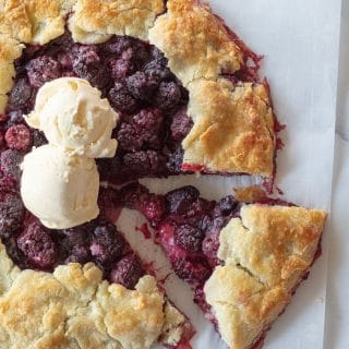 A simple Gluten-Free Rustic Blackberry Tart that highlights sweet blackberries and a buttery, flaky crust.