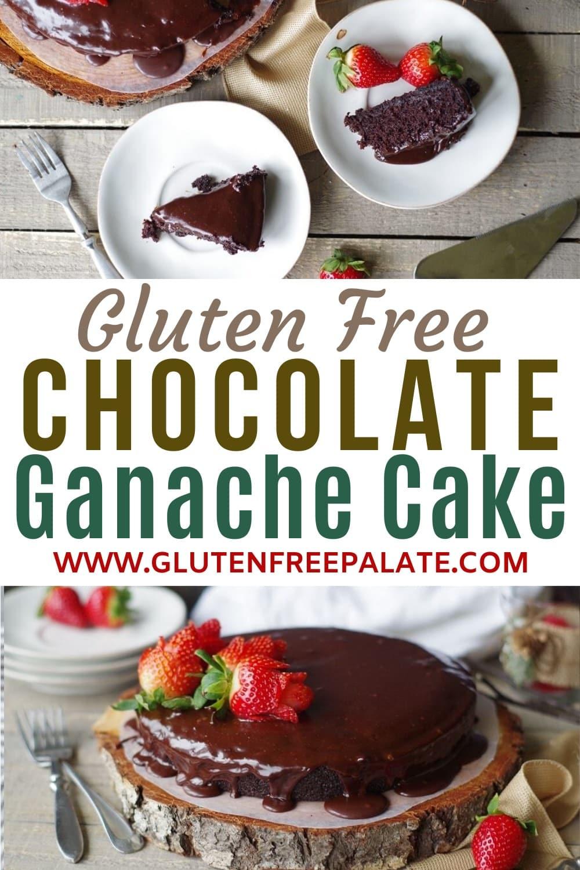 pinterest pin for chocolate ganache cake