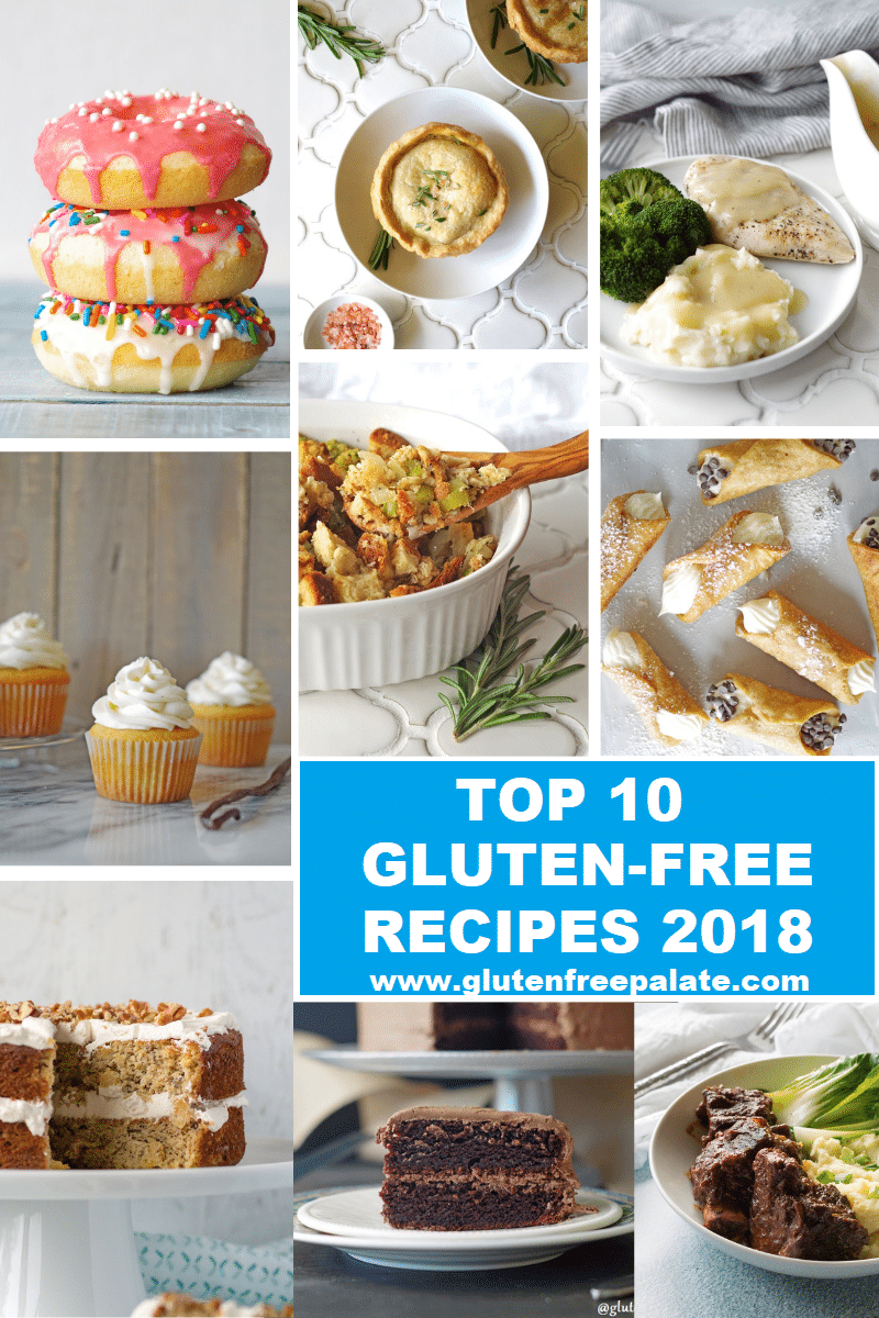 a collage of nine photos of the best recipes from gluten free palate for 2018
