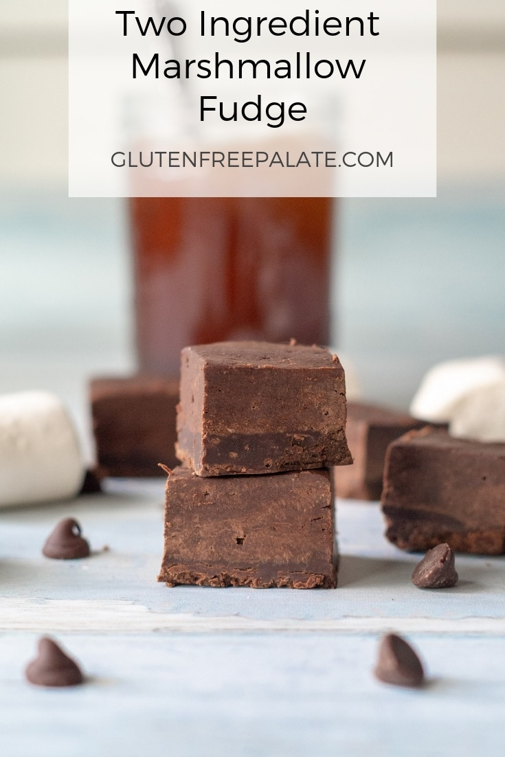 Two Ingredient Marshmallow Fudge that is ready in less then ten minutes, smooth, rich and perfect for fudge-lovers. This fudge is gluten-free, dairy-free, and free of the top eight allergens.