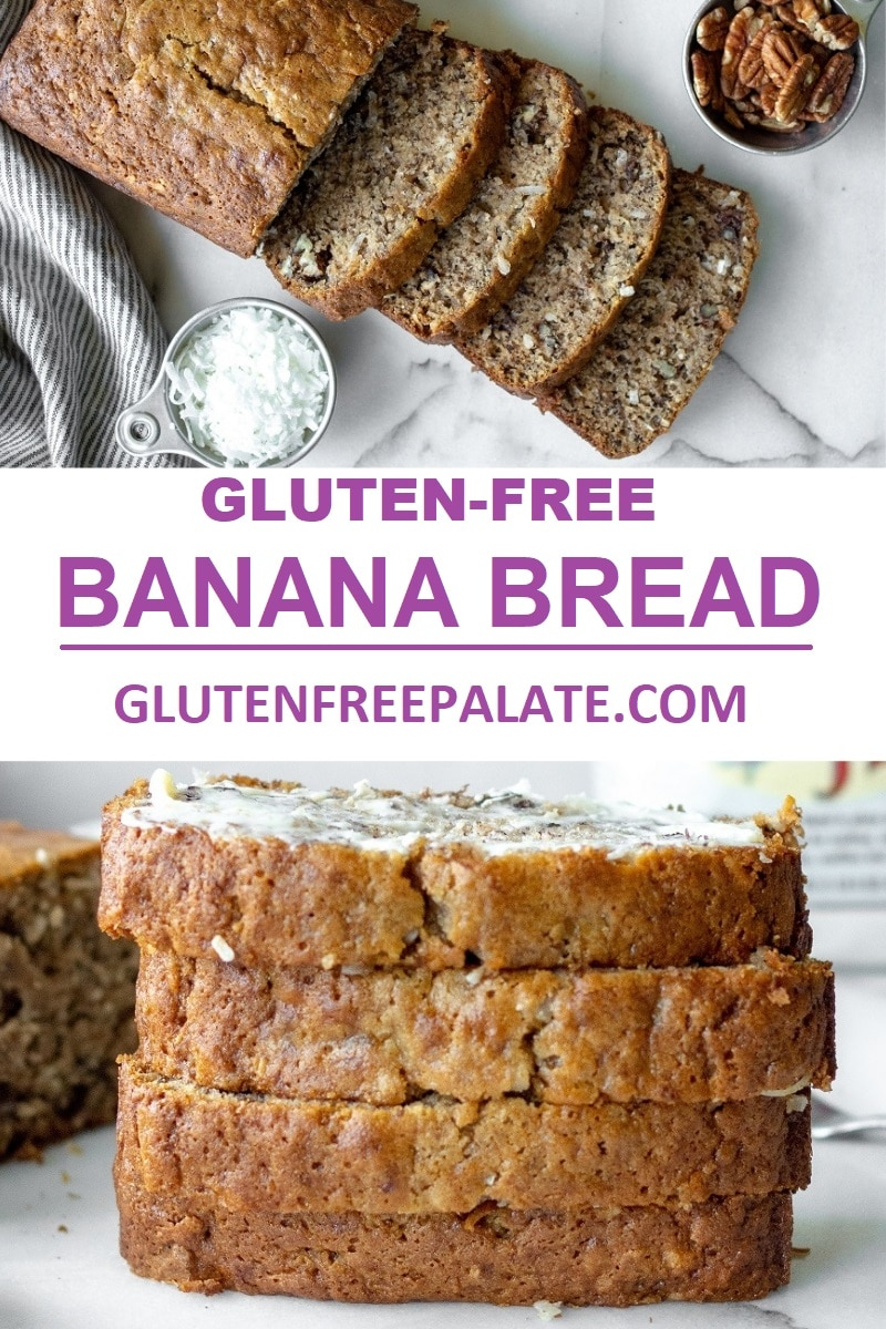 This delicious gluten-free coconut pecan banana bread brings traditional banana bread to a whole new level.